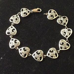 Vintage sterling silver marcasite bracelet